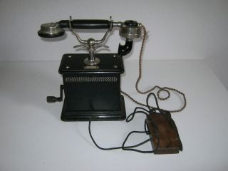 Jugendstil Telefon Holzgehäuse Um 1900 - 1920 Bild