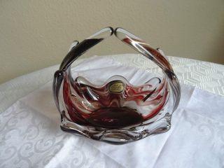 Kunstglas Schale - Körbchen Lux Glass Made In Austria Bild