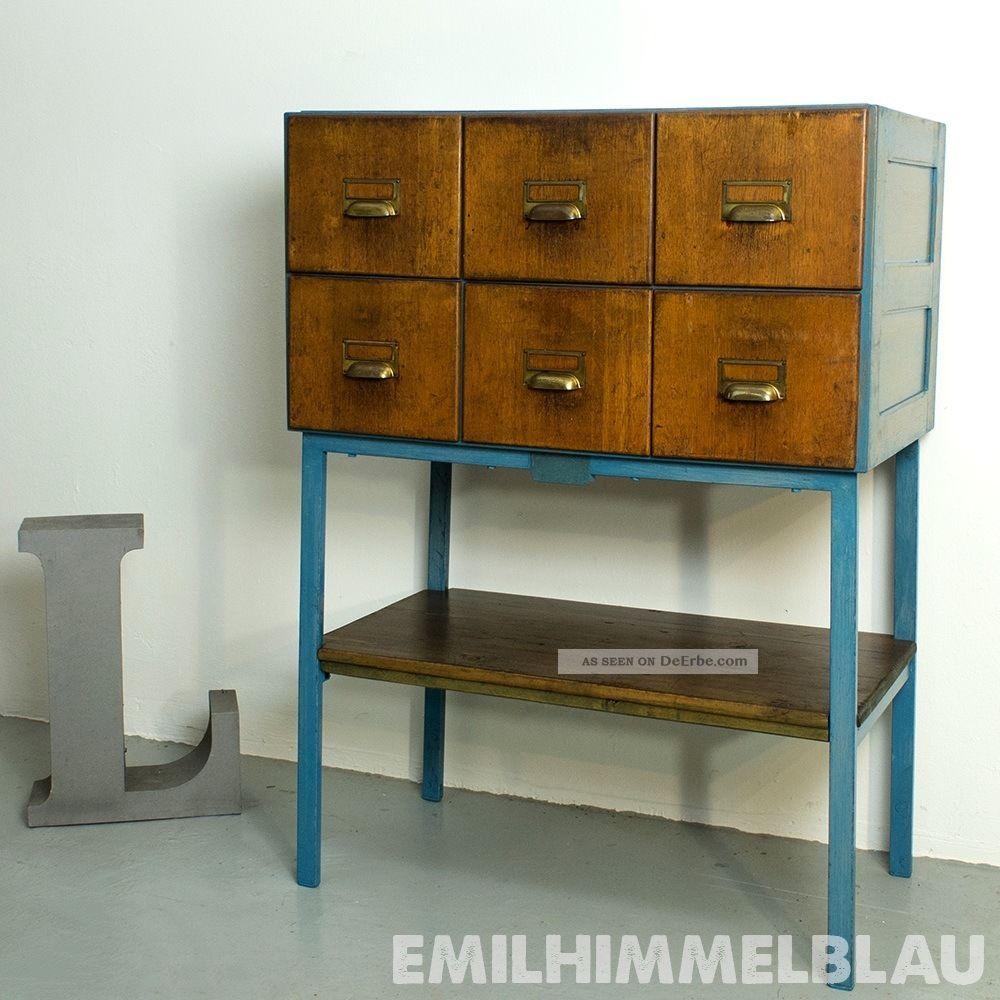 karteischrank register apotheker industrie bauhaus art deco design schrank. Black Bedroom Furniture Sets. Home Design Ideas