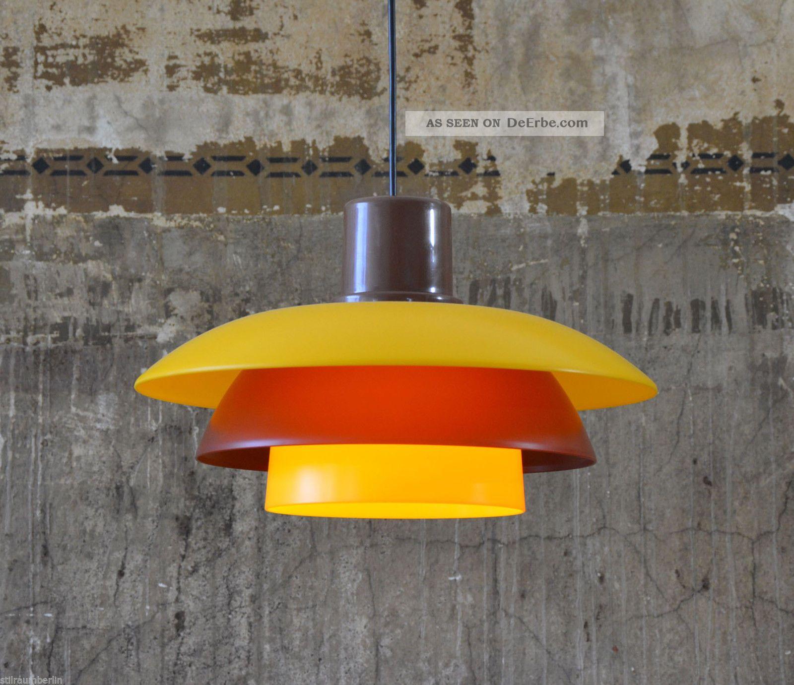 70s 70er Design Lampe Lamp Pendelleuchte Poulsen Ära Pendant Danish kX80PnOw
