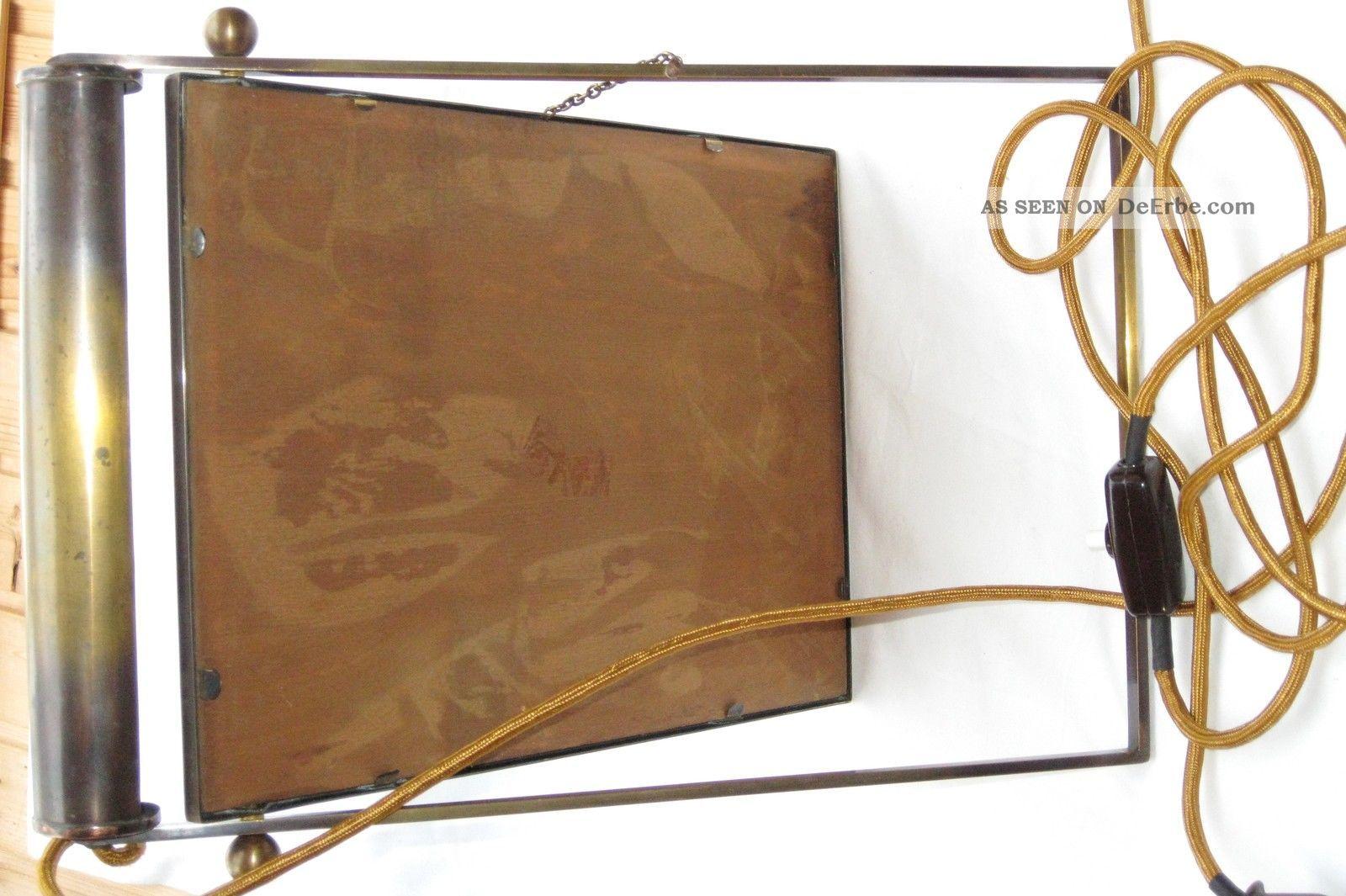 alte art deco bauhaus bilderrahmenlampe beleuchteter bilderrahmen um 1930 40. Black Bedroom Furniture Sets. Home Design Ideas
