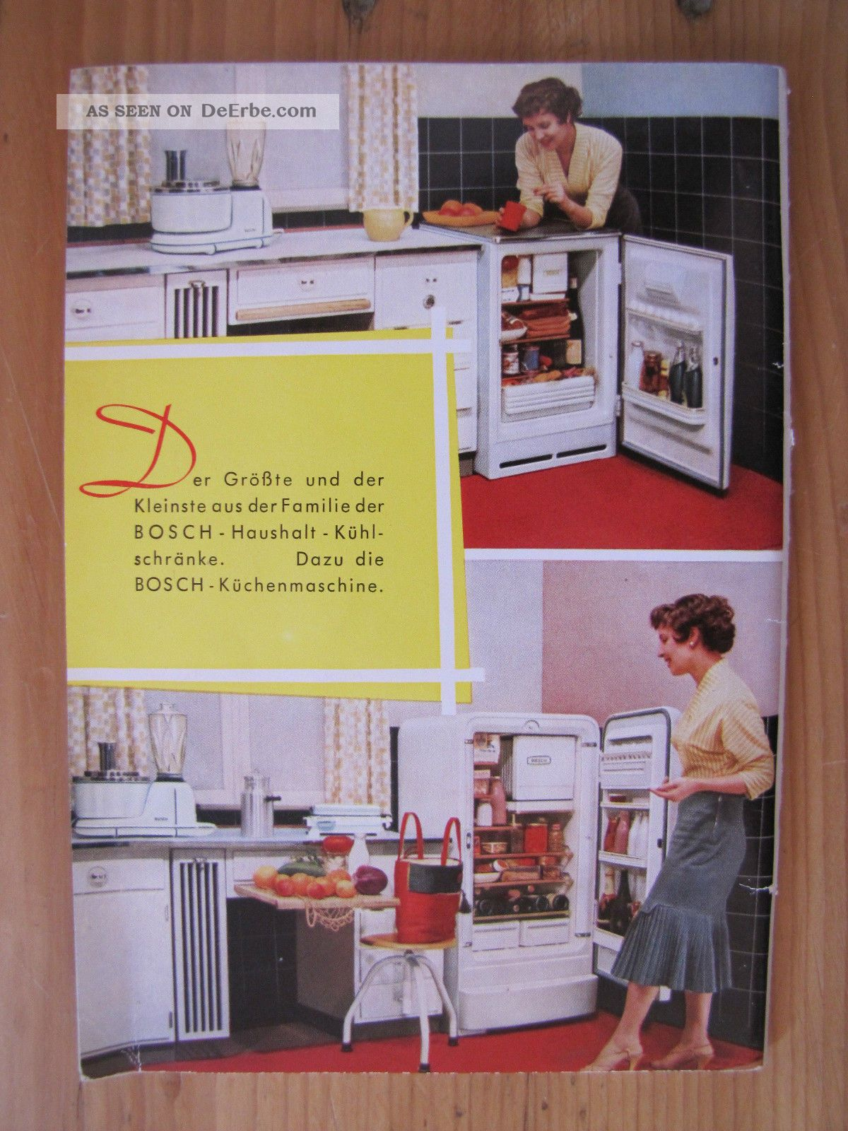 alte 50er 60er jahre bosch bedienungsanleitung anleitung k hlschrank. Black Bedroom Furniture Sets. Home Design Ideas