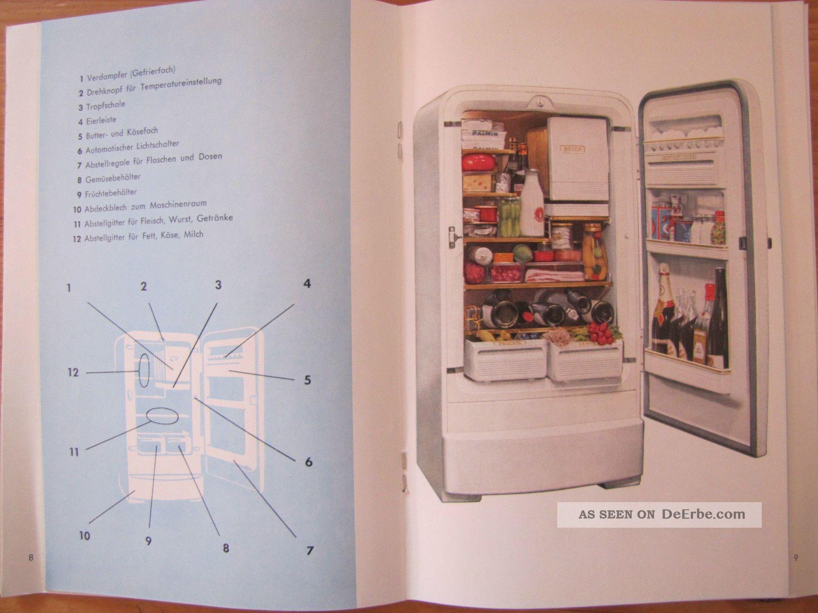 Alter Bosch Kühlschrank 60er Jahre : Alte er er jahre bosch bedienungsanleitung anleitung kühlschrank
