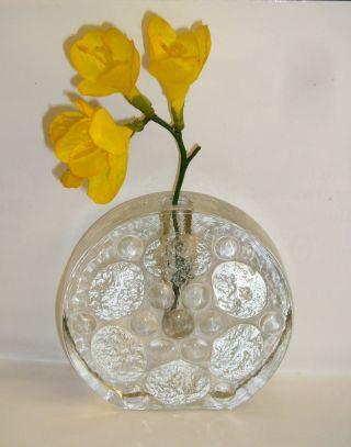 Blockvase Solifleur Klar Glas Vase Blumenvase Briefbeschwerer Gew.  - 870gr. Bild