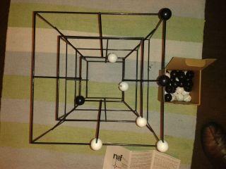 60er Jahre Naef Spiel 3d Mühle Design Peer Clahsen Art.  Nr.  9601 Extrem Rar Bild