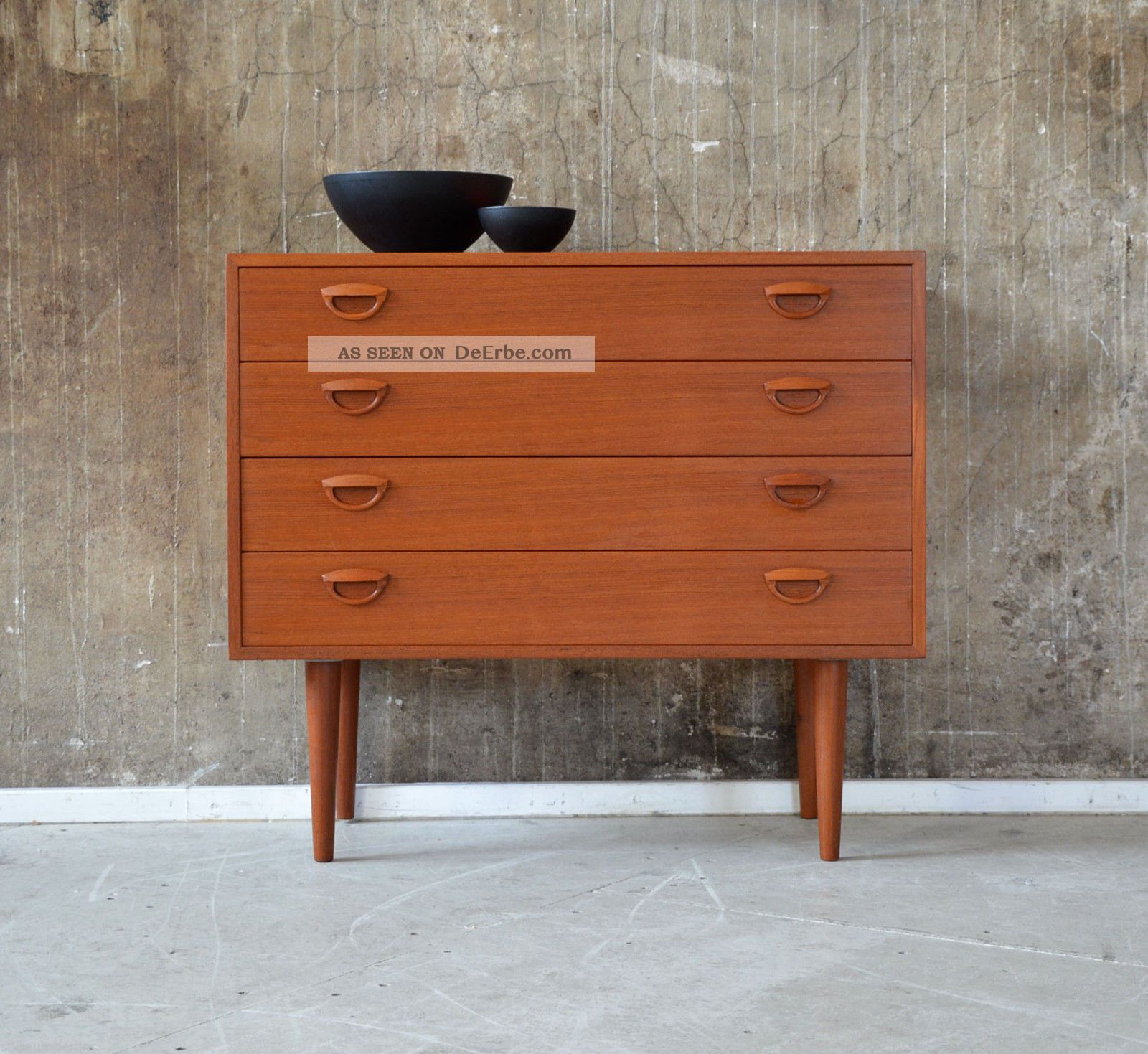 60er Kai Kristiansen Teak Kommode Danish Design 60s Cabinet Fm Chest