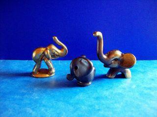 8 Messing Tiere,  1 Keramik Elefant,  Bär,  Pferd,  Katze,  Ente,  Walter Bosse Bild