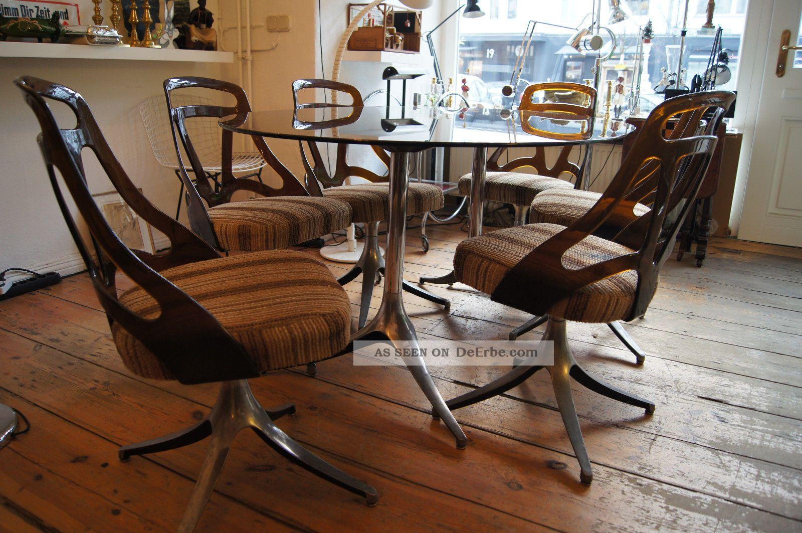 6 st hle 60er jahre design pop art space art. Black Bedroom Furniture Sets. Home Design Ideas