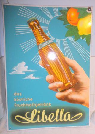1950 Libella Fruchtsaft Xl Emailleschild Top RaritÄt Traumteilchen Rar Bild