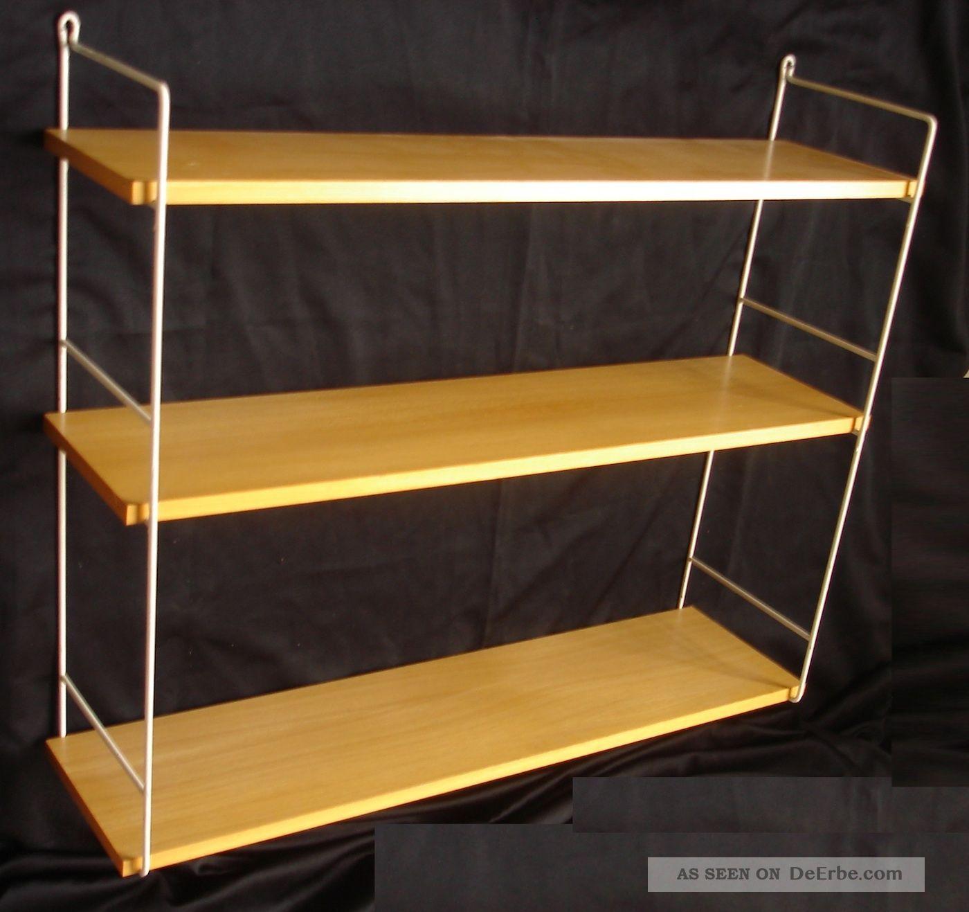 60er string regal shelf t 19 5 cm 3 b den buche furn. Black Bedroom Furniture Sets. Home Design Ideas