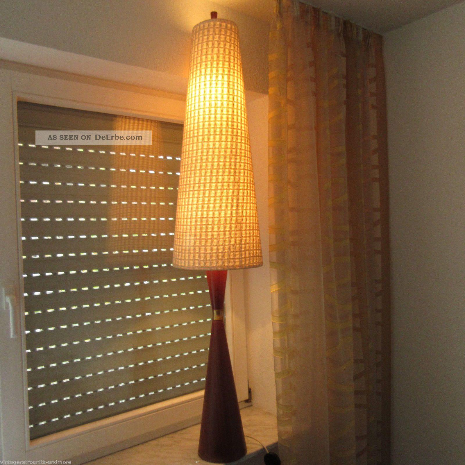 Danish Teak Spindel Stehlampe Lampe 60er Jahre