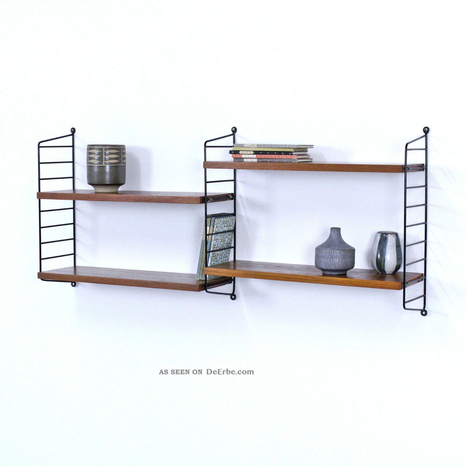 regal system string teak nisse strinning sweden shelving system no5. Black Bedroom Furniture Sets. Home Design Ideas