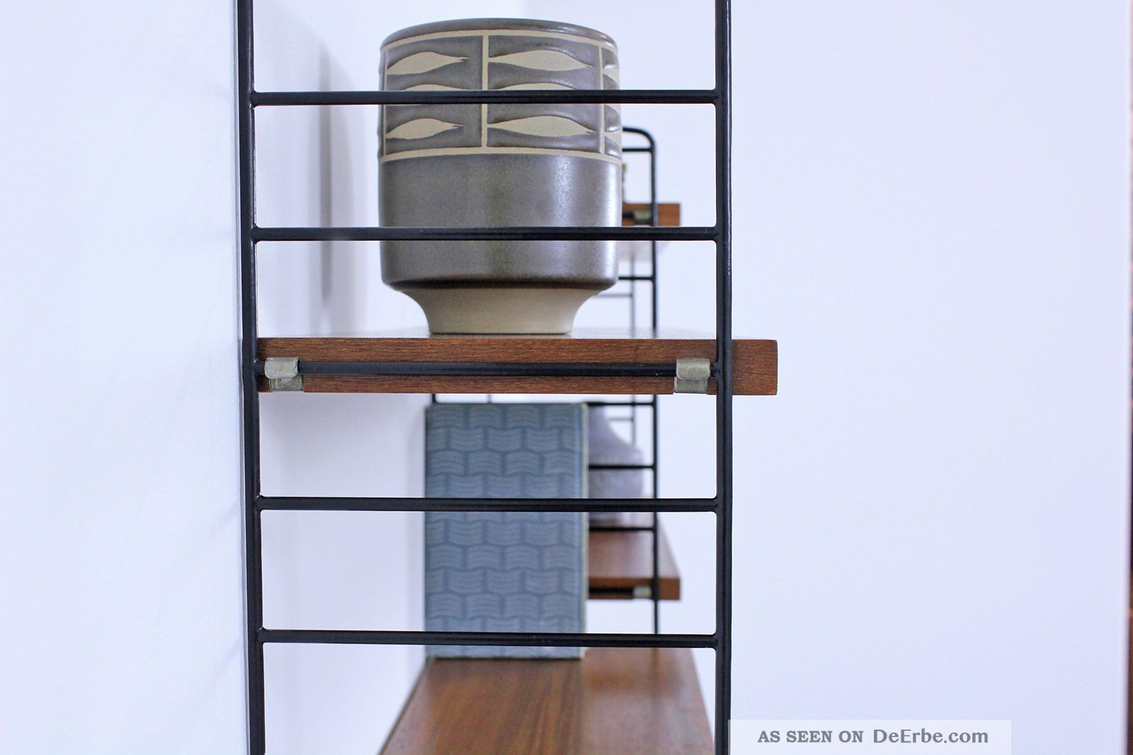 regal system string teak nisse strinning sweden shelving system no5. Black Bedroom Furniture Sets. Home Design Ideas