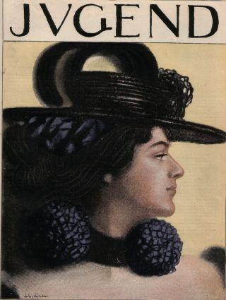 Jugend 34 - 1897 Jugendstil.  Mode,  Hutmode / Jossot Bild