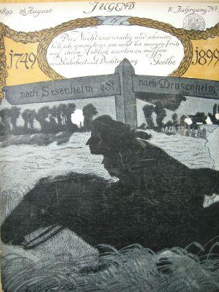 Jugend 35 - 1899 Jugendstil.  Goethe Zum 150. Bild