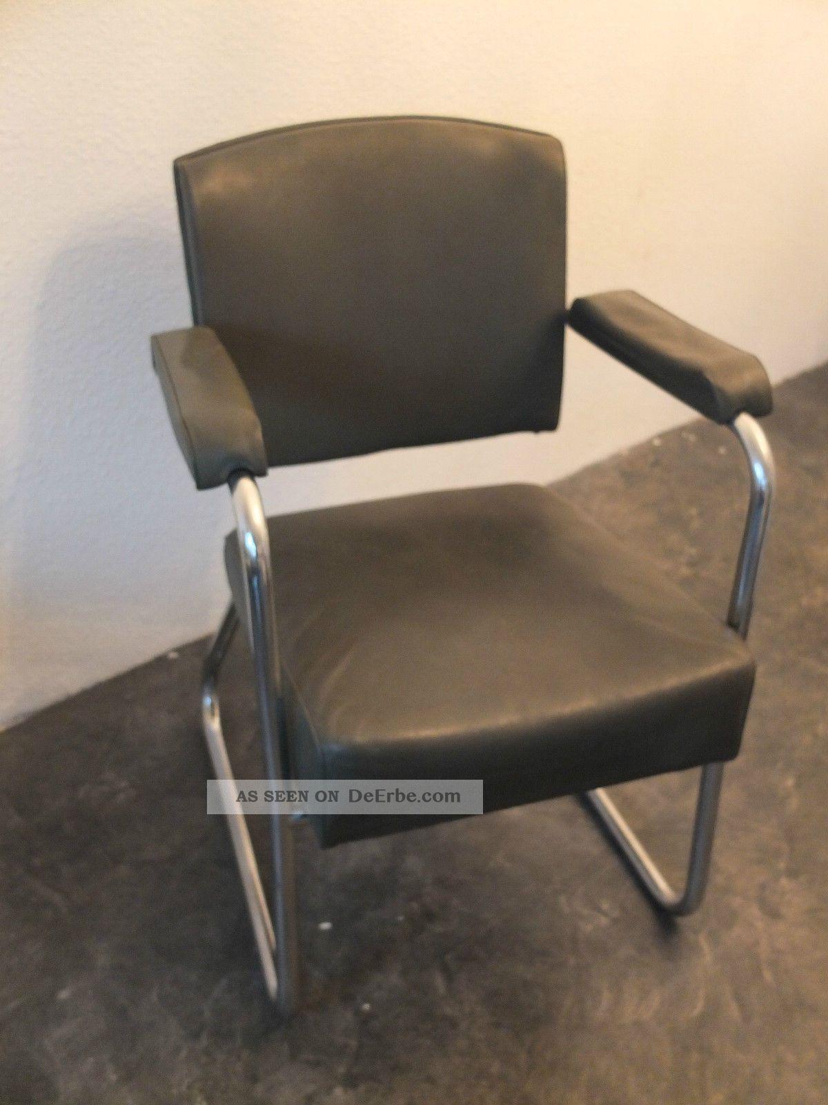 bauhaus stuhl freischwinger chrom sessel gr n thonet mauser baisch. Black Bedroom Furniture Sets. Home Design Ideas