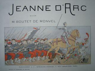 Jeanne D`arc Par M.  Boutet De Monvel.  1896.  Meisterwerk Des Jugendstil Bild