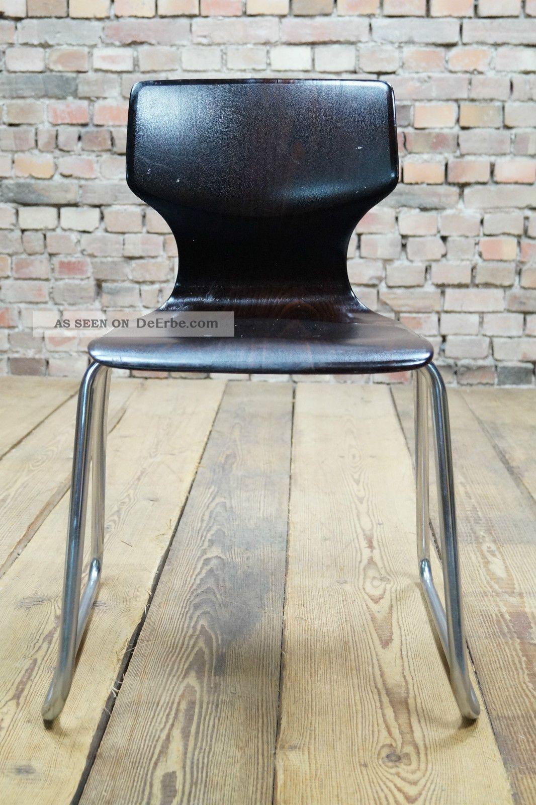 70er fl totto pagholz stuhl chrom pagwood eames panton ra 2. Black Bedroom Furniture Sets. Home Design Ideas