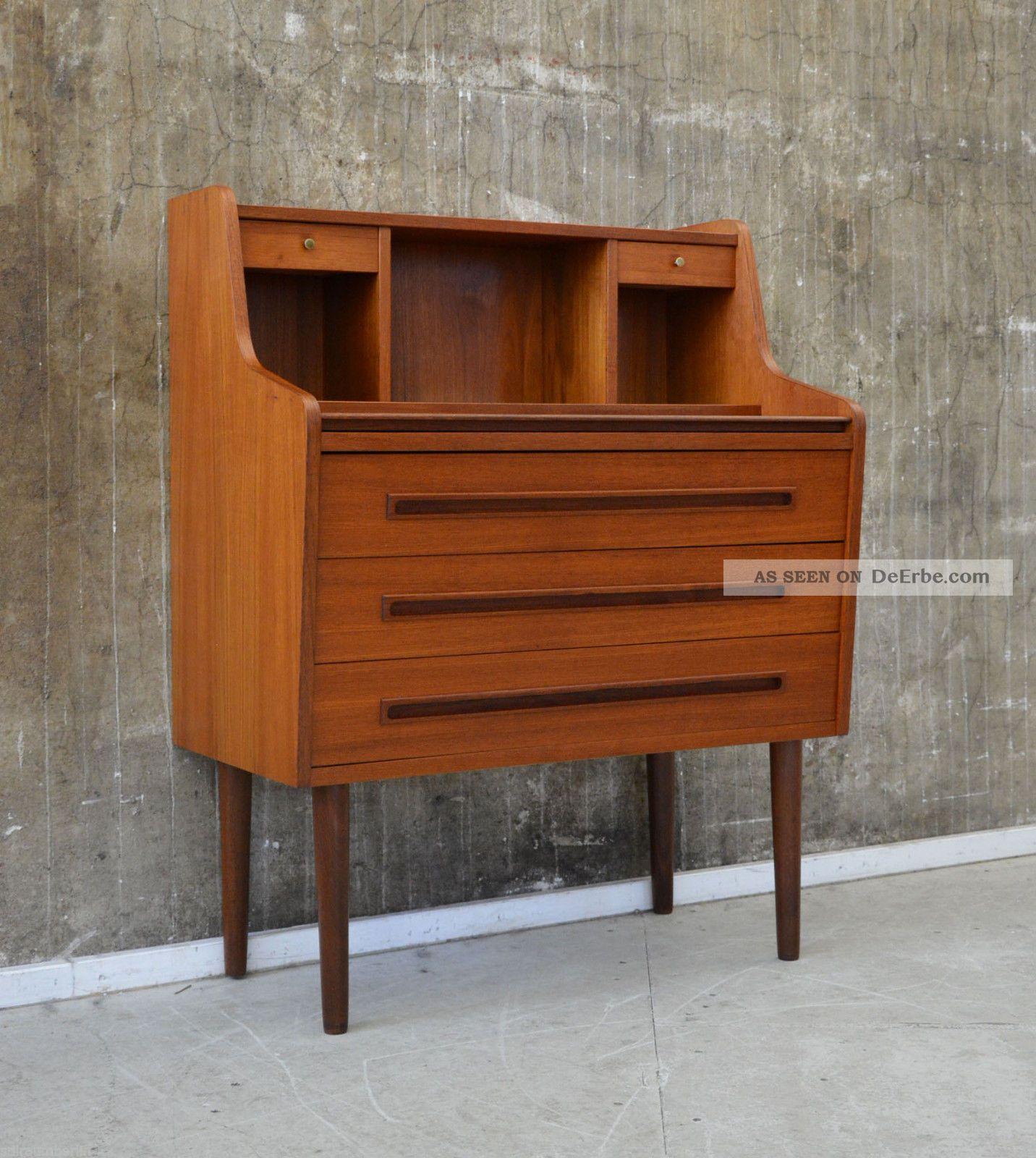 60er teak sekret r kommode danish design 60s writing for Danish design sessel 60er