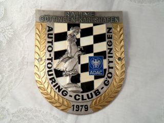 Plakette Adac Rallye Göttingen - Karlshafen Auto - Touring - Club - Göttingen 1979 Email Bild