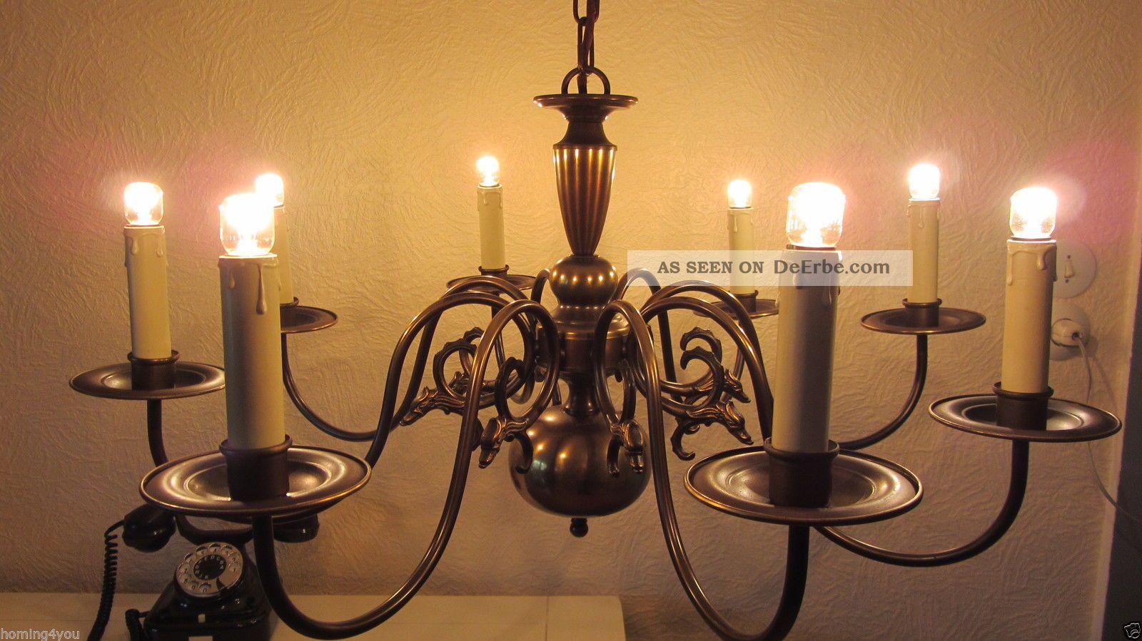 kronleuchter luster deckenlampe h nge lampe messing 8 flammig drachen bauhaus. Black Bedroom Furniture Sets. Home Design Ideas