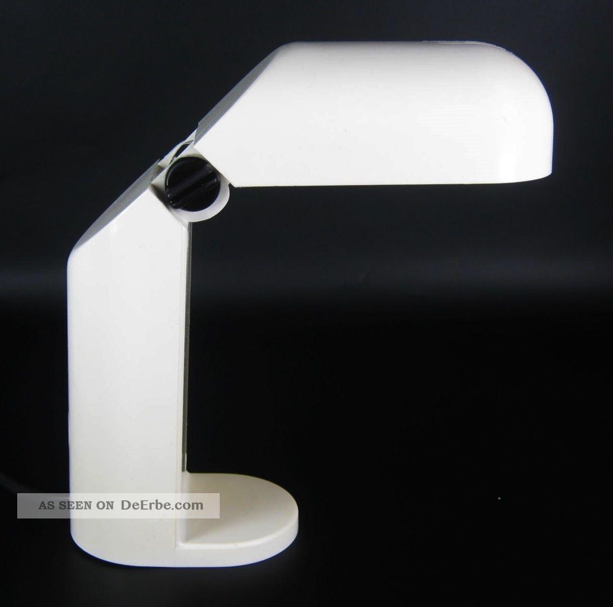 designer tischlampe schreibtischlampe kunststoff 60er 70er jahre design retro. Black Bedroom Furniture Sets. Home Design Ideas
