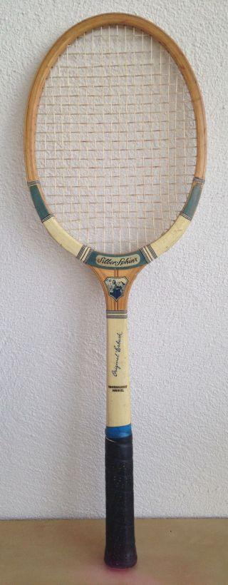 Tennisschläger Erbacher Silber Sphinx Tournament Modell Sammler Holz 50er Jahre Bild