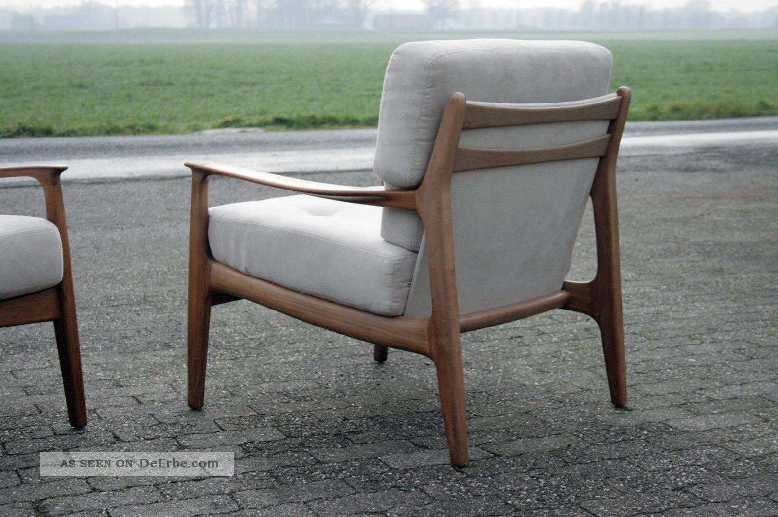2 x eugen schmidt 50er 60er sessel chair 50s 60s. Black Bedroom Furniture Sets. Home Design Ideas