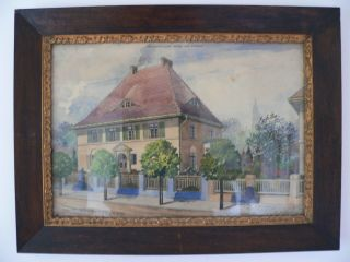 Jugendstil Architektenzeichnung Stadthaus - Villa Von Franz Schumann Von 1919 Bild