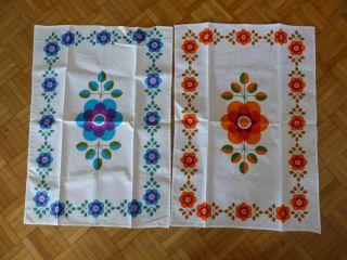70er Jahre 2 Geschirrhandtücher,  Tschibo Pop Pril Blumen 70s Kitchen Towel Cool Bild