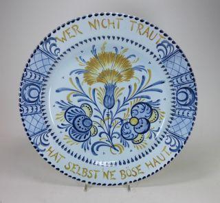 Großer Teller / Wandteller - Georg Schmider Zell / Zeller Keramik 1897/1898 Bild