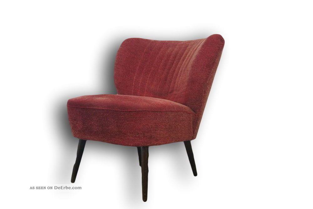 vintage cocktailsessel clubsessel rockabilly ra rot 50er. Black Bedroom Furniture Sets. Home Design Ideas