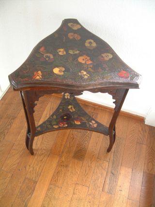 Tischchen,  Jugendstil,  Stiefmütterchen,  Petite Table,  Art Nouveau,  Pensées,  Selten Bild