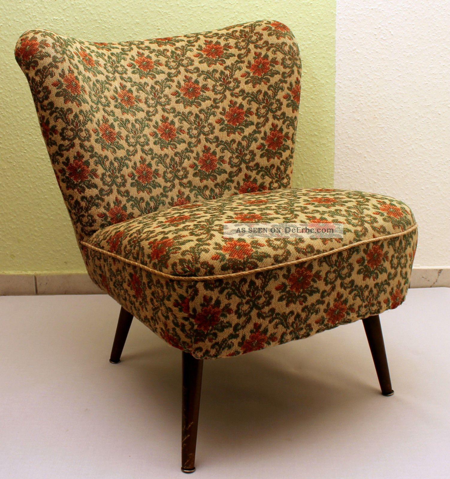 midcentury clubsessel cocktailsessel lounge sessel 50er 60er jahre 2 st ck. Black Bedroom Furniture Sets. Home Design Ideas