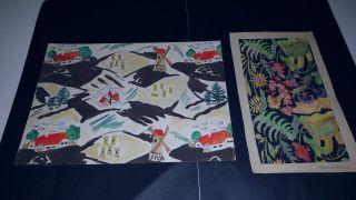 Zwei Originalaquarelle Signiert Marie Von Zülow 1925 Bild