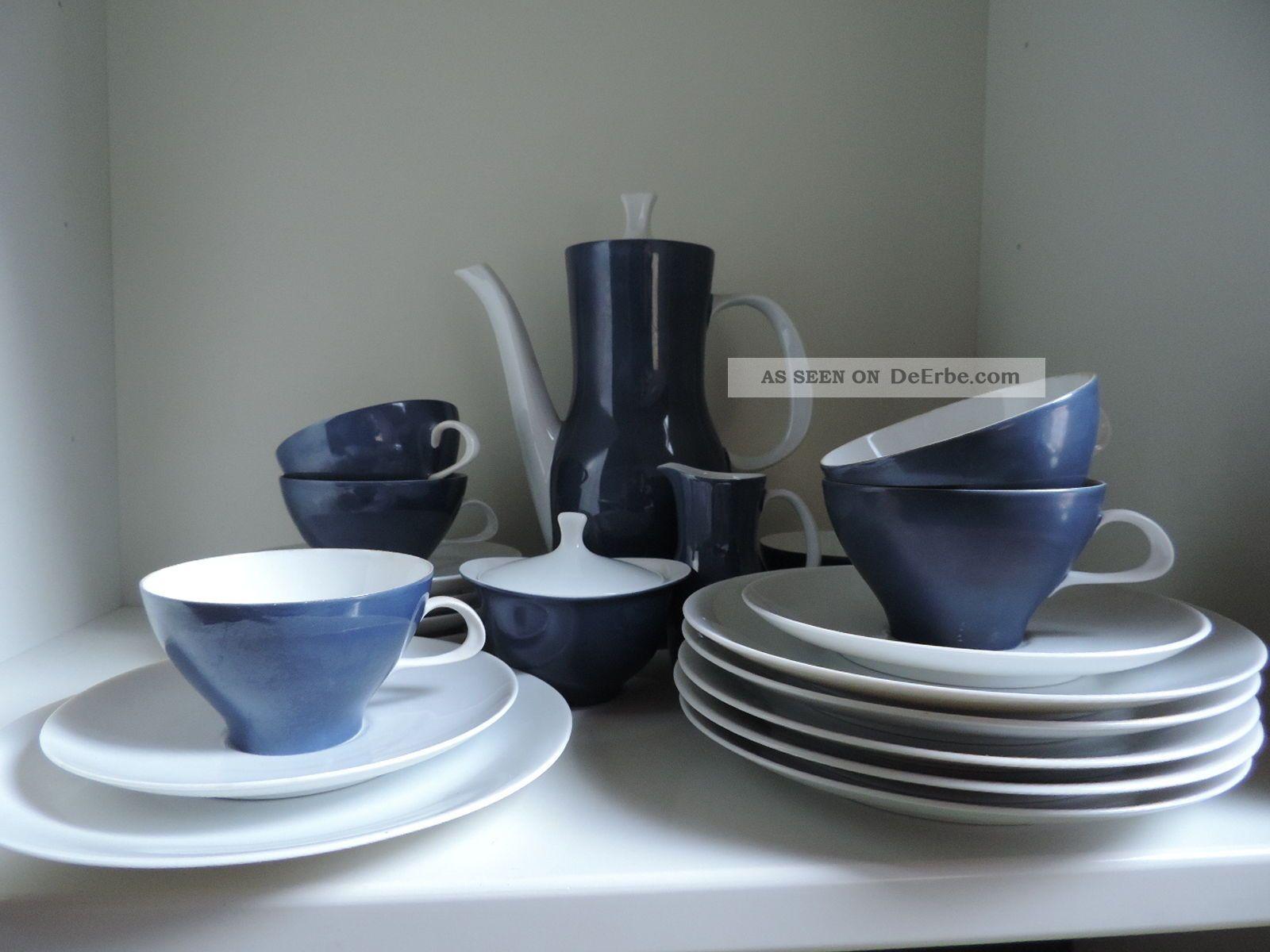 thomas finlandia blaufond kaffeeservice f 6 personen tapio wirkkala 60er jahre. Black Bedroom Furniture Sets. Home Design Ideas