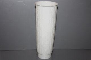 Fürstenberg Vase Tischvase Reliefdekor Edel Weiß 60er 70er Jahre Aus Nachlass Bild