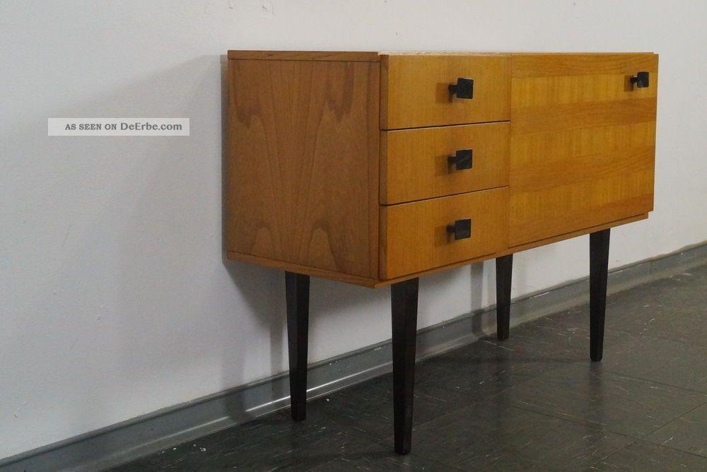 Vintage Flur Kommode Schrankchen Ruster 3 Laden 50er Jahre