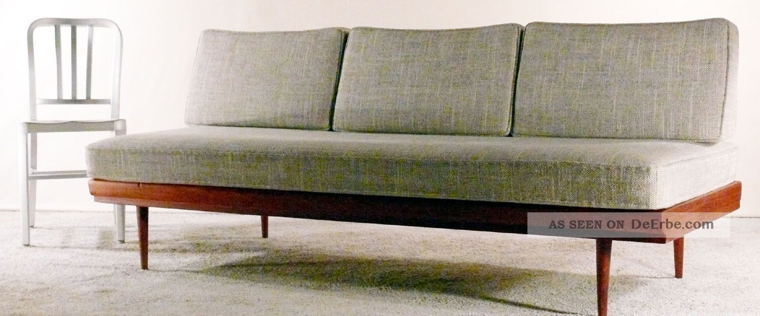60er walter knoll teak daybed sofa couch dreisitzer 50er schlafsofa antimott. Black Bedroom Furniture Sets. Home Design Ideas