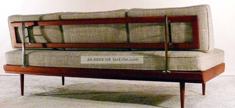 60er walter knoll teak daybed sofa couch dreisitzer 50er for Schlafsofa 50er