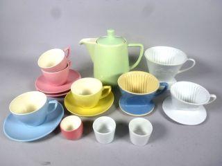Melitta Kaffee - Geschirr 60iger Jahre Design Mit Melitta - Kaffeefiltern 5qm3531 Bild