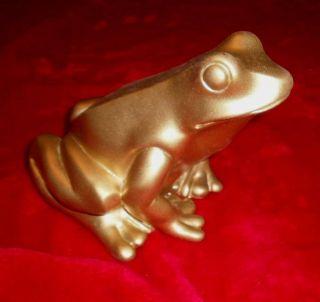 Herrlicher Frosch Von O.  Hörl In Gold Bild