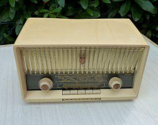 RÖhrenradio Philips Philetta Tube RÖhre Radio Vintage 60 ' S Rockabily Sammler Top Bild