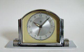 Junghans Tischuhr Wecker 8 - Tage Werk Art Deco 30/40er Jahre Top & Rare Bild