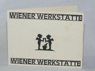Antik,  Ww Wiener Werkstätte Originale Neujahrs Grußkarte Löffler ?,  Um 1920 Bild