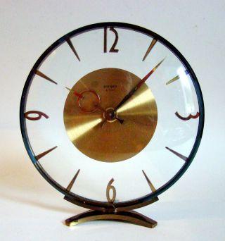 Bayard Transparente Tischuhr 8 - Day Vintage Mid Century Clock Art Deco Top & Rare Bild