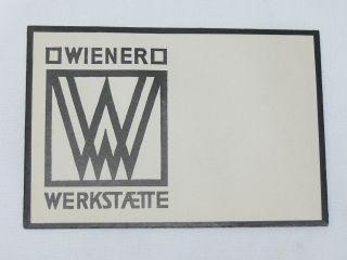 Ww Wiener Werkstätte Originaler Umschlag Mit Piktogramm,  Um 1920 Bild