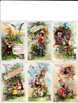 Liebig Bilderserie 1 - 6/ Kinderreime Iii Liebig Serie Nr: 404 Bild
