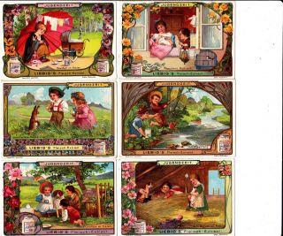 Liebig Bilderserie 1 - 6/ Jugendzeit Liebig Serie Nr: 597 Bild