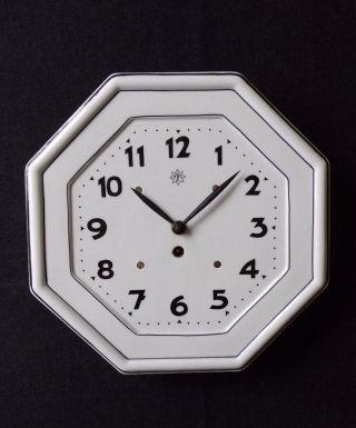 Konstruktive Jugendstil - Uhr In Schwarz/weiss,  Österreich/böhmen 1910 - Junghans Bild